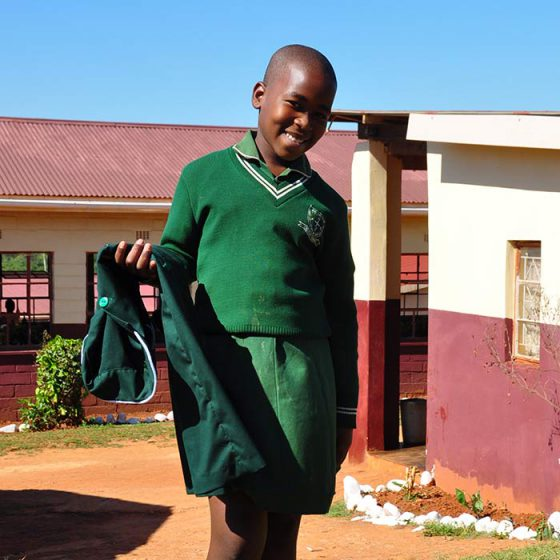 Uniforms distribution – Hhohho Ame Primary School, Swaziland – 2017