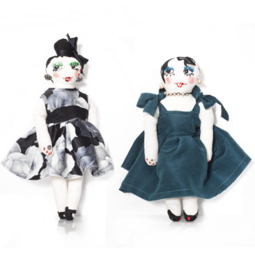 Lanvin soft figurines embroidered in Swaziland