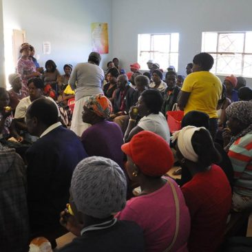 Support for the HIV+ patients at Piggs Peak Hospital
