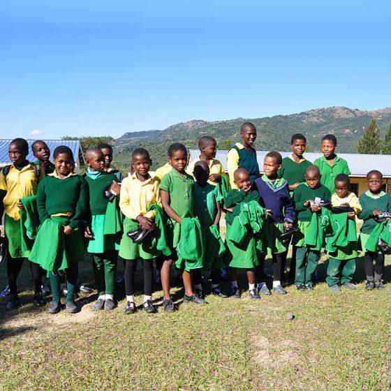 Uniforms distribution – St Paul School, Swaziland – 2017