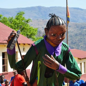 Giant puppets in Swaziland